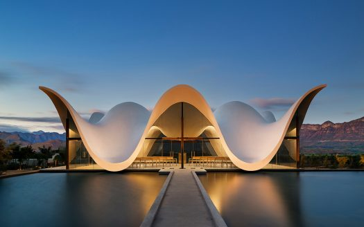 Adam Letch Project: A recently completed chapel built on Bosjes farm in Ceres, Cape Town by Steyn Studio