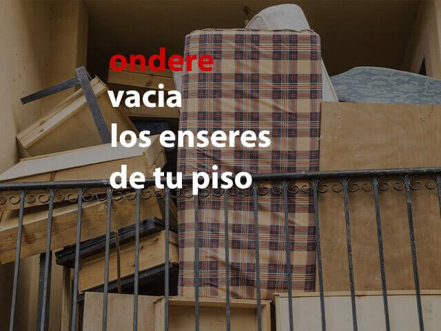 servicio vaciado pisos de inmobiliaria ondere en indautxu