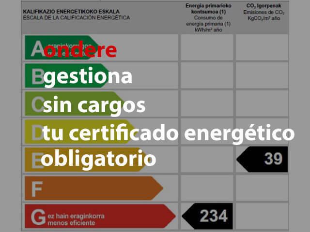 obtener certificado energetico en amezola