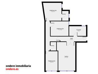 plano piso indautxu bilbao